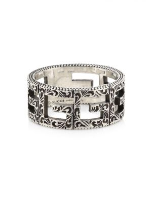 Gucci Accessories G-Cube Sterling Silver Cigar Band