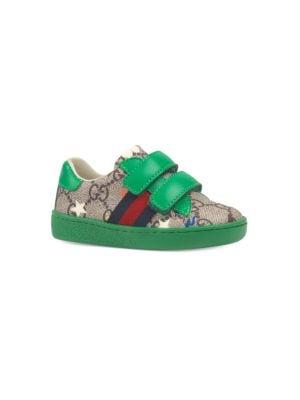 673172740 Gucci - Rhyton Gucci Logo Leather Sneaker - saks.com