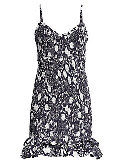 1a086e3ecdd QUICK VIEW. Likely. Zephra Shirred Floral Mini Dress