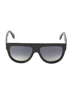 8021ca4fb6b8 QUICK VIEW. CELINE. 58MM Flat-Top Round Shield Sunglasses