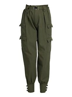 5e7f84424c2 Miu Miu. Cotton Cargo Utility Trousers