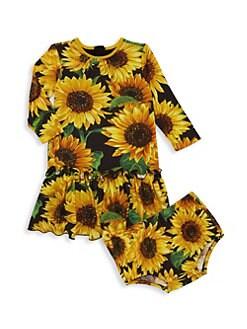 ea26e5c825e2 Dolce & Gabbana. Baby Girl's Two-Piece Sunflower Print Dress ...
