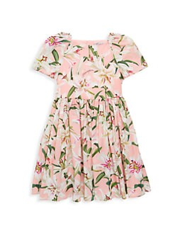 2706ec174 QUICK VIEW. Dolce & Gabbana. Little Girl's & Girl's Short-Sleeve Floral  A-Line Dress