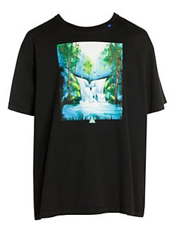 2dcff1fc4 Off-White - Waterfall Oversized Graphic T-Shirt