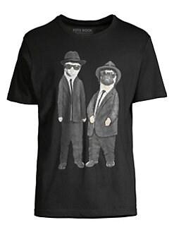 4cdbc1b0a37 Eleven Paris. Men in Black Graphic T-Shirt