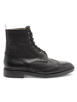 273951cf3 Classic Leather Wingtip Boots BLACK. QUICK VIEW. Product image