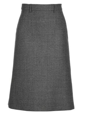Prada Skirts Prince Of Wales Check A-Line Skirt