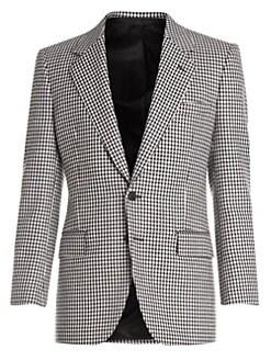 4c473b06c727 Check Virgin Wool Blazer WHITE BLACK. QUICK VIEW. Product image