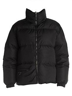 cb7aeadde712b2 Product image. QUICK VIEW. Prada. Piuma Buckled Nylon Puffer Jacket