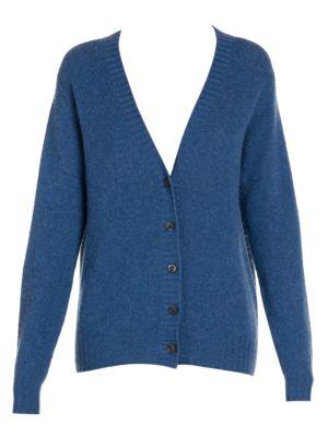 Prada Tops Buttoned Cashmere Cardigan