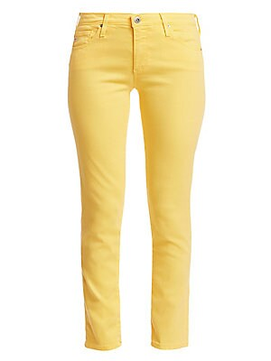 Image of Ankle length skinny jeans featuring a mid-rise waist and light color to dress up or down with a blouse or tee. Five pocket style Button fastening with zip-fly Cotton/lyocell/polyester/polyurethane Machine wash Imported SIZE & FIT Ankle length Skinny leg R