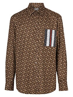 fa2d62a7 QUICK VIEW. Burberry. Chatham Print Cotton Sport Shirt