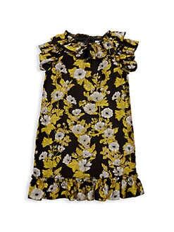 3320ed126 Little Girl's & Girl's Ruffle Jacquard Short-Sleeve Dress JACQUARD. QUICK  VIEW. Product image