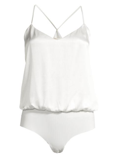 L'Agence Mariela Silk Blouson Bodysuit | SaksFifthAvenue