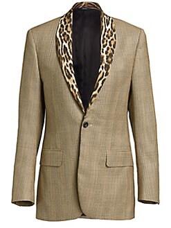 50a5990d0b48 QUICK VIEW. R13. Leopard Shawl Lapel Plaid Tuxedo Jacket