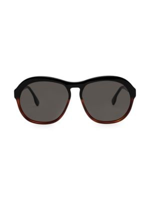 Le Specs Luxe 58mm Burnout Oversized Round Sunglasses