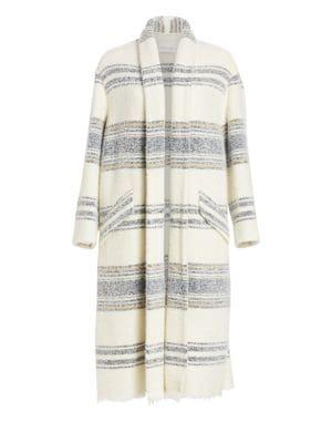 Isabel Marant Etoile Faby Striped Open Coat