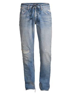 fb433360 Hudson Jeans Blake Franchise Mid-Rise Drawstring Slim-Fit Jeans