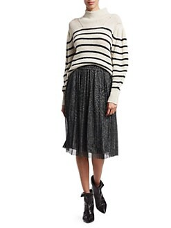 38ba2f6e44 Isabel Marant Etoile. Beatrice Lurex Pleated Midi Skirt