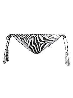 18f37111cee PilyQ. Zebra Tie Bikini Bottom