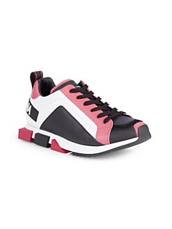 Dolce & Gabbana Girls Colorblock Leather Sneakers