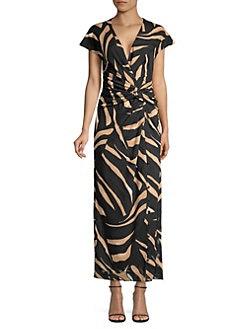 8a2fce661fa Prabal Gurung. Animal Print Wrapped Maxi Dress