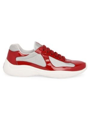 Prada Americas Cup Patent Leather & Technical Fabric Sneakers