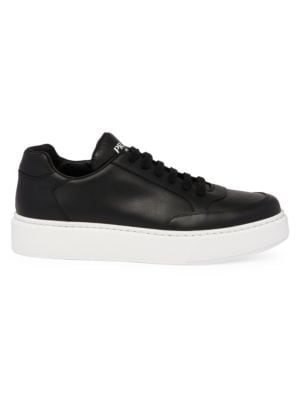 Prada Montana Leather Low Top Sneakers
