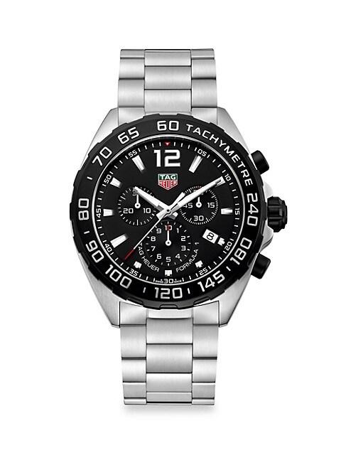 Formula 1 43MM Stainless Steel Quartz Chronograph Bracelet Watch