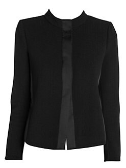 6c98a3153b28a Product image. QUICK VIEW. Giorgio Armani. Ottoman Stretch Cropped Collar  Jacket. $1695.00 · Wool Lurex Tuxedo Jacket BLACK. QUICK VIEW