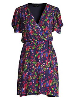 5690e023369 QUICK VIEW. Saloni. Lea Floral Wrap Dress