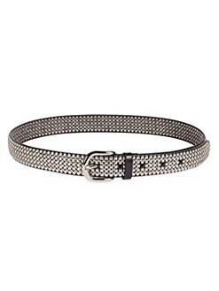 0563a5138 Studded Leather Belt BLACK. QUICK VIEW. Product image