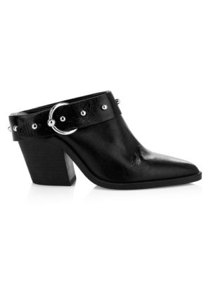 Rebecca Minkoff Sallest Ankle Buckle Leather Mules