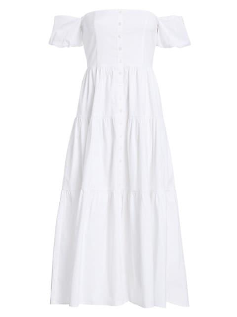 Elio Puff-Sleeve Prairie Dress