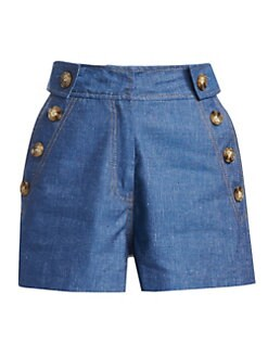 18ae954eb6 Product image. QUICK VIEW. Derek Lam 10 Crosby. Buttoned Denim Shorts