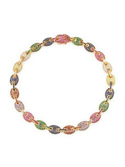 e43dbc27b QUICK VIEW. Fallon. Toscano Multicolor Crystal Pavé Link Necklace
