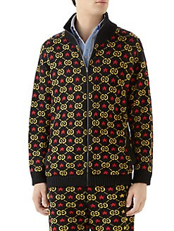 4334dc88b Gucci. GG Star Cotton Jacquard Bomber Jacket