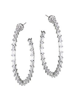 Open-Minded Spectacular Silver Plated Rhinestone Necklace And Clip Earrings Colours Are Striking Engagement & Wedding