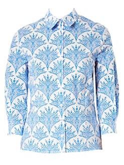 258ec23d1 QUICK VIEW. Carolina Herrera. Classic Printed Button Down Shirt
