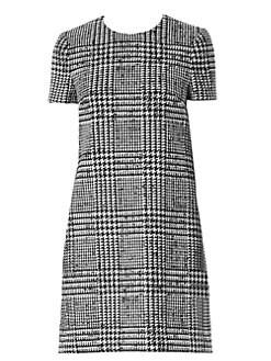 0696775ef71 Carolina Herrera. Wool & Silk Houndstooth Shift Dress
