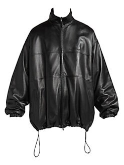 7c77d86f Balenciaga. Oversized Leather Track Jacket