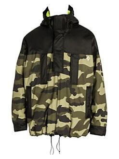b9dce15a5 Marcelo Burlon. Neon-Lined Hooded Camo Jacket