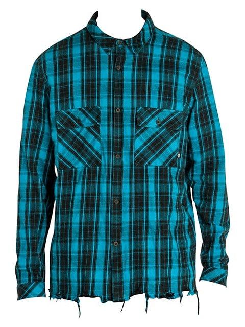 County Check Raw Hem Shirt