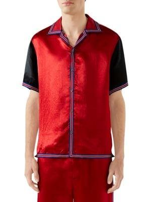 b7809c0b67fe Gucci - GG Star Acetate Bowling Shirt - saks.com