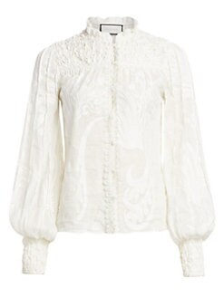 e6b041f519f Bismarck Embroidered Blouse WHITE. QUICK VIEW. Product image