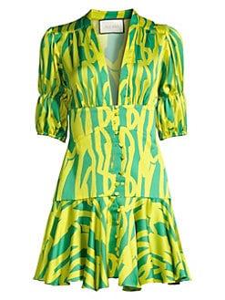 5d08d86eae1b1 QUICK VIEW. Alexis. Idun Puff-Sleeve Corset Mini Dress