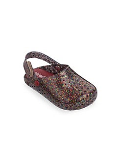 f75585777e Product image. QUICK VIEW. Mini Melissa. Baby's, Little Girl's & Girl's  Furadinha Glittered Flats