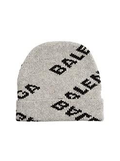 bcdb59e9a2 QUICK VIEW. Balenciaga. Logo Wool-Blend Beanie