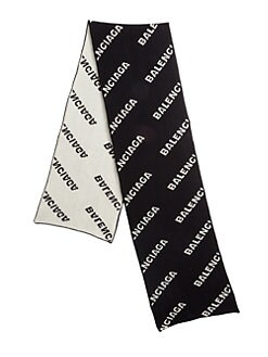 dba884f24f Logo Wool Scarf BLACK WHITE. QUICK VIEW. Product image