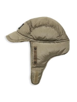 Stone Island Men's Stowable Mask Hat In Olive